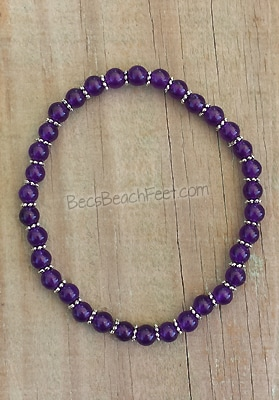 Amethyst Stacker Anklet 6mm