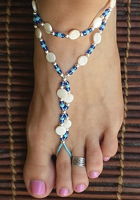Something Blue Barefoot Sandals for that Beach Bride-To-Be.
