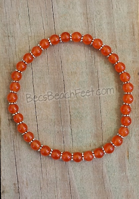 Stacker Anklet Orange Topaz