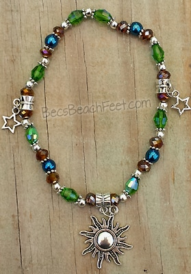 Cosmic Crush Sun Charm Anklet